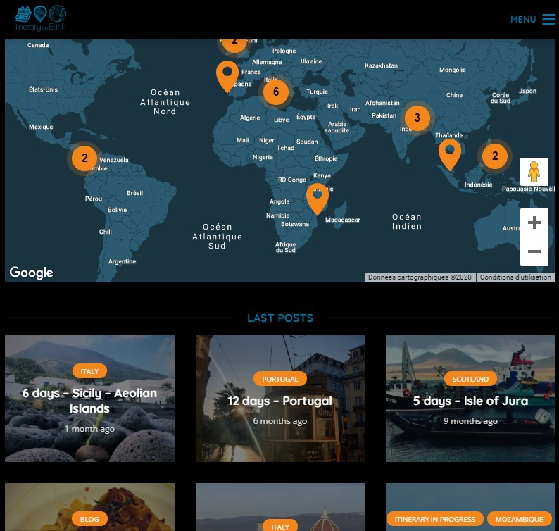 ITINERARY ON EARTH, THE PLATFORM FOR TRAVELER BY TRAVELER