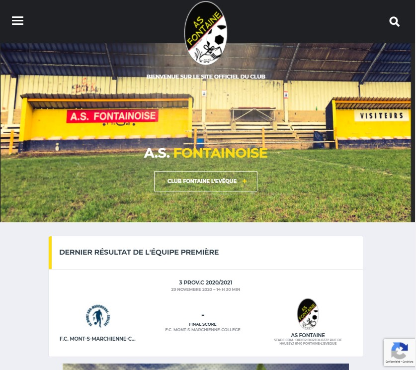 New website: Football club AS Fontainoise